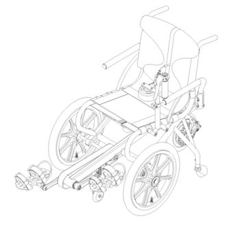 profhand pedal wheelchair hm